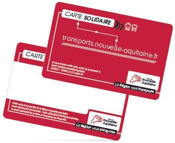 carte solidaire nouvelle aquitaine Le nouveau tarif Solidaire du Conseil régional : La Carte